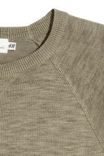 Fine-knit jumper - Khaki green marl - Men | H&M CN 3