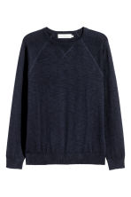 Fine-knit jumper - Dark blue marl - Men | H&M 2