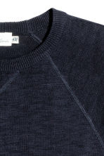 Fine-knit jumper - Dark blue marl - Men | H&M 3