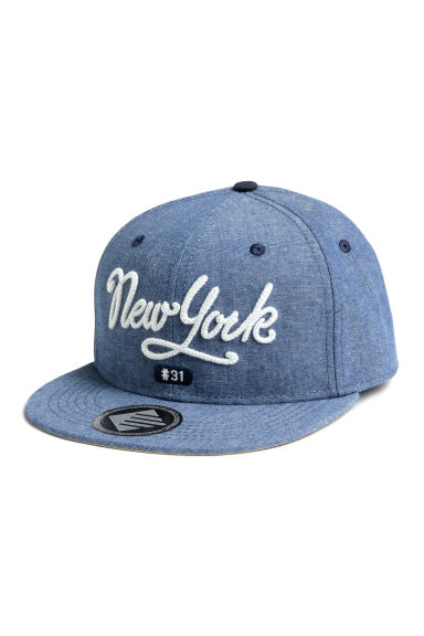 Cap with appliqués - Blue/New York - Kids | H&M CN