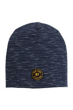 Jersey hat - Dark blue/Striped - Kids | H&M 1