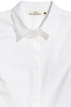 Cotton shirt - White - Ladies | H&M CN 3