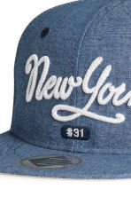 Cap with a motif - Blue -  | H&M 4
