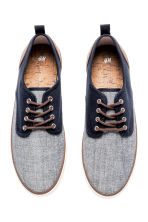 Canvas trainers - Dark blue/Marl - Men | H&M 2
