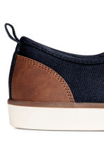 Canvas trainers - Dark blue/Marl - Men | H&M 4