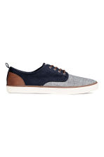 Canvas trainers - Dark blue/Marl - Men | H&M 1