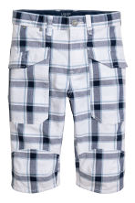 過膝短褲 - White/Checked -  | H&M 2