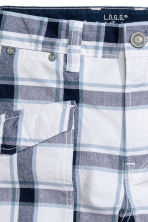 過膝短褲 - White/Checked -  | H&M 3