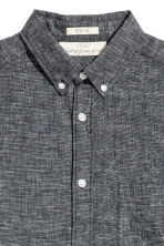 Linen-blend shirt Regular fit - Dark grey marl - Men | H&M 3