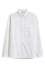 Linen-blend shirt Relaxed fit - White - Men | H&M CN 2
