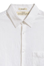 Linen-blend shirt Relaxed fit - White - Men | H&M CN 3