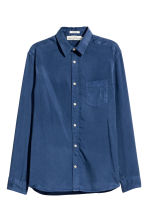Camicia in lyocell - Blu scuro - UOMO | H&M IT 2
