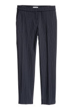 Suit trousers - Dark blue/Pinstriped - Ladies | H&M 2