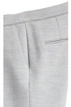 Suit trousers - Light grey marl -  | H&M 4