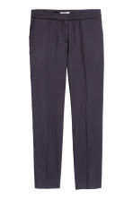 Suit trousers - Dark blue/Spotted - Ladies | H&M CN 2