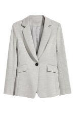 Fitted jacket - Light grey marl - Ladies | H&M 2