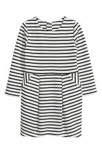 Jersey dress - White/Black striped -  | H&M 2