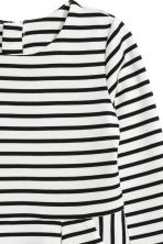 Jersey dress - White/Black striped -  | H&M 3