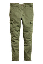 Cargo trousers - Khaki green -  | H&M 2