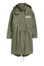 Parka with a detachable lining - Khaki green - Ladies | H&M CN 2
