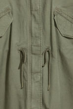 Parka with a detachable lining - Khaki green - Ladies | H&M CN 4