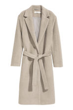 Felted wool-blend coat - Light mole - Ladies | H&M CN 2