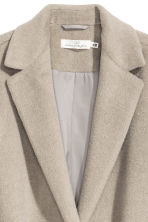 Felted wool-blend coat - Light mole - Ladies | H&M CN 3