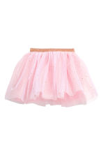 Tulle skirt with glitter - Light pink - Kids | H&M 2