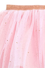 Gonna in tulle glitter - Rosa chiaro/glitter -  | H&M IT 3