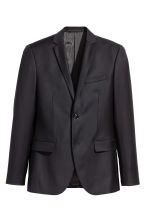 Wollen blazer - Regular fit - Zwart - HEREN | H&M BE 2