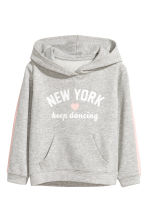 Printed hooded top - Grey/New York - Kids | H&M 2