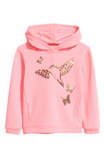 Sweat à capuche - Rose/papillons - ENFANT | H&M FR 2