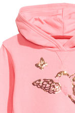 Printed hooded top - Pink/Butterflies - Kids | H&M 3