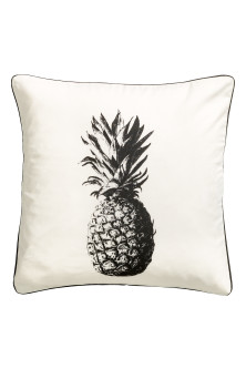 Print-motif cushion cover