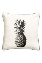 Print-motif cushion cover - White/Pineapple - Home All | H&M CN 1