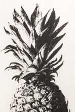 Print-motif cushion cover - White/Pineapple - Home All | H&M CN 3