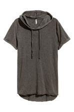 Hooded T-shirt - Dark grey marl - Men | H&M CN 2