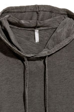 Hooded T-shirt - Dark grey marl - Men | H&M 3