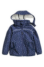 Softshell jacket - Dark blue/Spotted - Kids | H&M CN 2