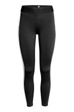 Leggings sportivi color-block - Nero/grigio mélange - DONNA | H&M IT 2