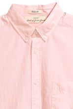 Cotton shirt Regular fit - Light pink - Men | H&M 3