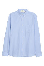 Cotton shirt Regular fit - Light blue - Men | H&M 2