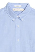 Cotton shirt Regular fit - Light blue - Men | H&M 3