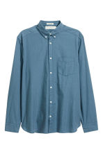 Cotton shirt Regular fit - Pigeon blue - Men | H&M 2