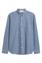 Cotton shirt Regular fit - Dark blue/Checked - Men | H&M CN 2