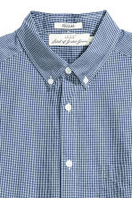 Cotton shirt Regular fit - Dark blue/Checked - Men | H&M CN 3