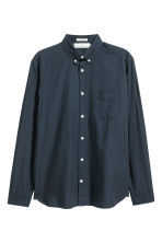 Cotton shirt Regular fit - Dark blue - Men | H&M CN 2