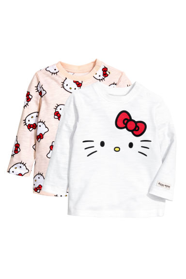 2-pack tops - Light pink/Hello Kitty -  | H&M CN