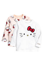 2-pack tops - Light pink/Hello Kitty -  | H&M CA 1