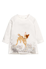 Sweatshirt and leggings - White/Bambi - Kids | H&M CN 2